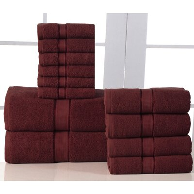 12 Piece Towel Set Color: Biking Red