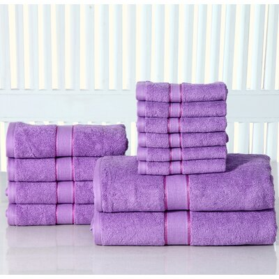 12 Piece Towel Set Color: Lilac