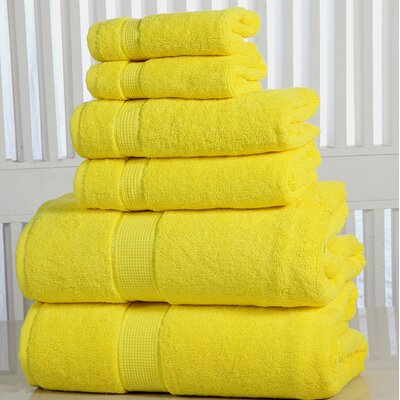 Lucinda Luxurious 6 Piece Towel Set Color: Yellow