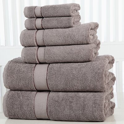Lucinda Luxurious 6 Piece Towel Set Color: Platinum