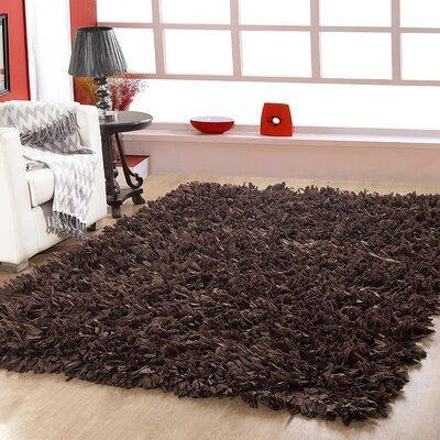 Hand Woven Shag Cocoa Area Rug Rug Size: 8 x 10