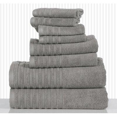 600 GSM Egyptian Quality Cotton 8 Piece Towel Set Color: Platinum