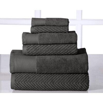 Sylvan Place 6 Piece Towel Set Color: Gray