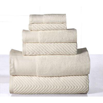 100% 6 Piece Towel Set Color: Ivory