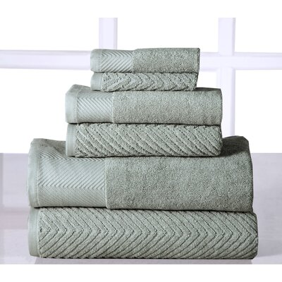 Sylvan Place 6 Piece Towel Set Color: Jade