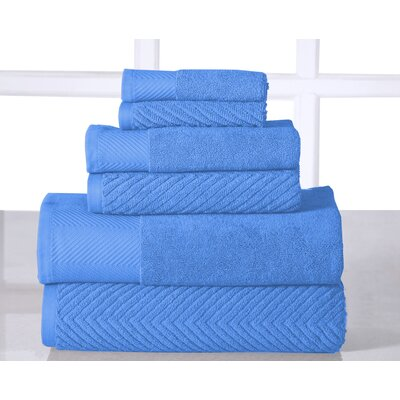 6 Piece Towel Set Color: Sea Blue