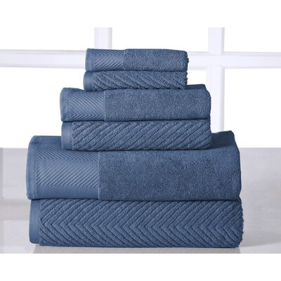 6 Piece Towel Set Color: Bluestone