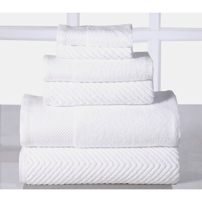 Sylvan Place 6 Piece Towel Set Color: White