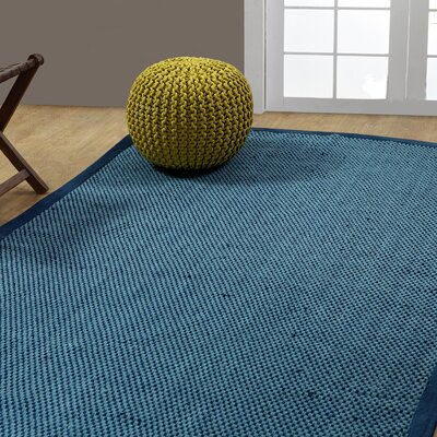 Cross Hand-Woven Blue Indoor/Outdoor Area Rug