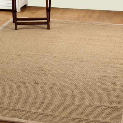 Natural Fiber Basket Weave Sisal Hand-Woven Natural/Beige Indoor/Outdoor Area Rug