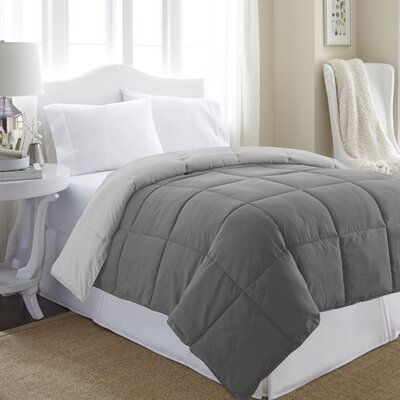 Reversible All Season Down Alternative Comforter Size: King