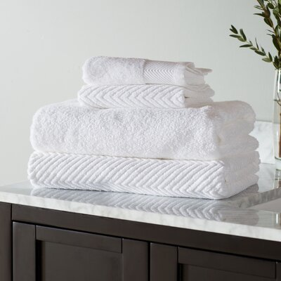 Woolf 10 Piece Towel Set Color: White