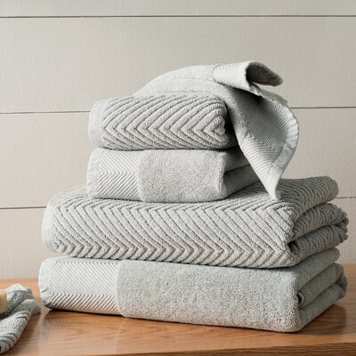 Woolf 10 Piece Towel Set Color: Jade