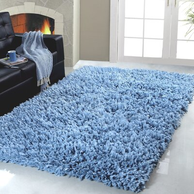 Calcote Hand-Woven Blue Area Rug