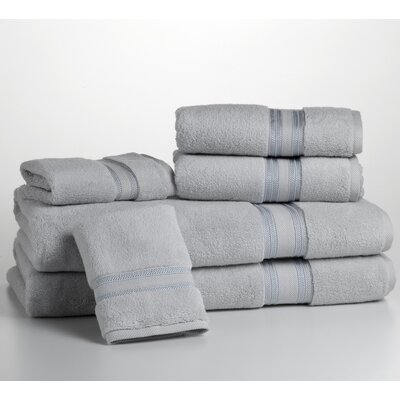 Super Absorb 100% Cotton Zero Twist 6 Piece Towel Set Color: Glacier Gray