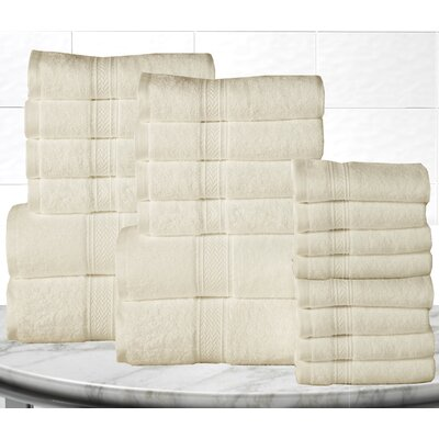 Gregoire Soft and Luxurious Cotton 20 Piece Towel Set Color: Ivory