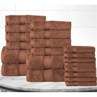 Gregoire Soft and Luxurious Cotton 20 Piece Towel Set Color: Mocha