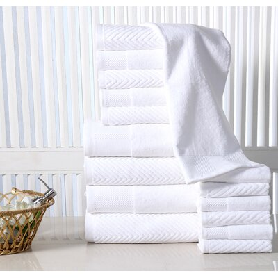 16 Piece Towel Set Color: White
