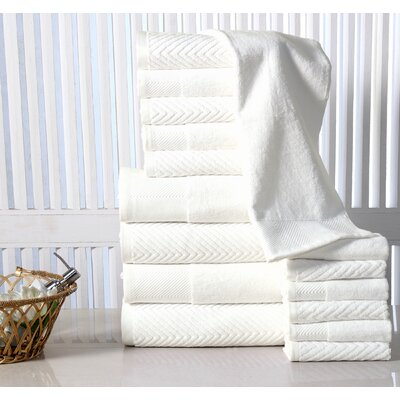 16 Piece Towel Set Color: Ivory