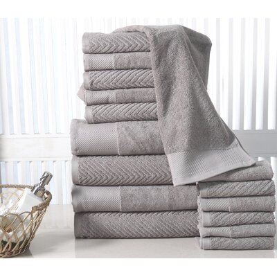 16 Piece Towel Set Color: Platinum