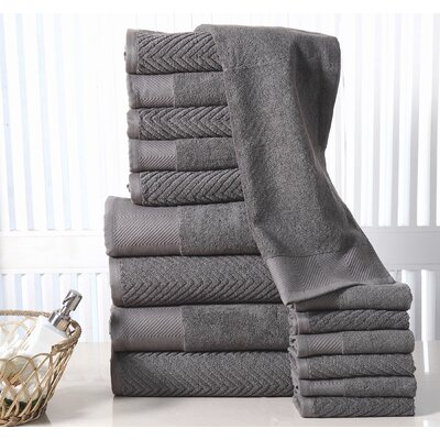 Grenville 16 Piece Towel Set Color: Grey