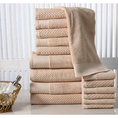 Grenville 16 Piece Towel Set Color: Beige