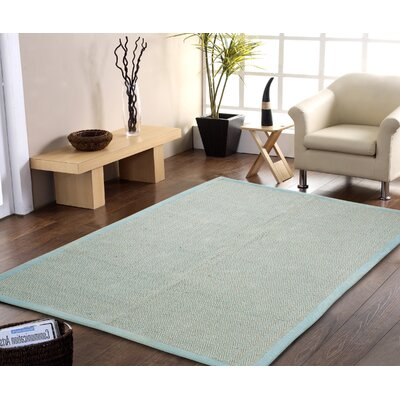 Chereen Eco Friendly Handmade Aqua Area Rug