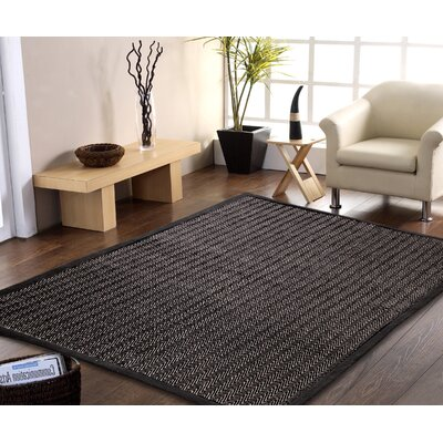 Chereen Eco Friendly Handmade Black Area Rug