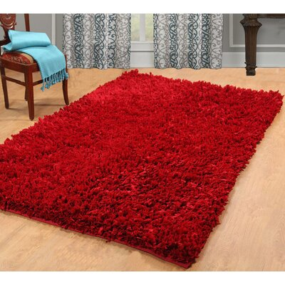 Cozy Hand-Woven Red Area Rug Rug Size: 4 X 6