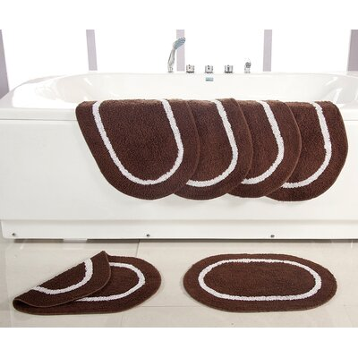 Landisburg Reversible Bath Rug Color: Chocolate