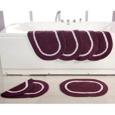 Landisburg Reversible Bath Rug Color: Burgundy