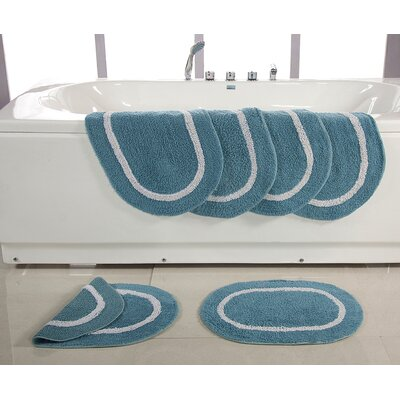 Landisburg Reversible Bath Rug Color: Dusky Blue