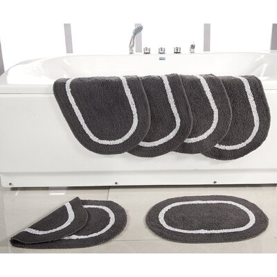 Landisburg Reversible Bath Rug Color: Platinum