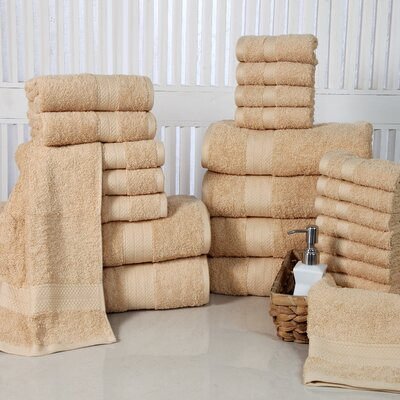 24 Piece Towel Set Color: Beige