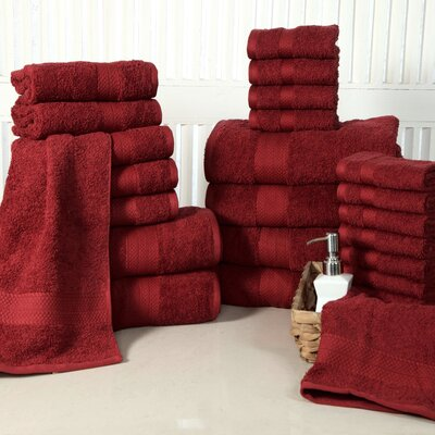 24 Piece Towel Set Color: Biking Red