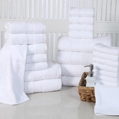 24 Piece Towel Set Color: White