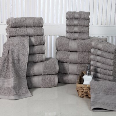 24 Piece Towel Set Color: Platinum