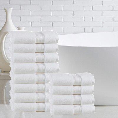 Briele Quick Dry Zero Twist Cotton Washcloth Color: White