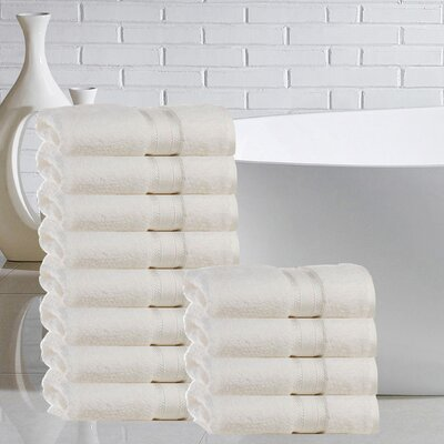 Briele Quick Dry Zero Twist Cotton Washcloth Color: Ivory