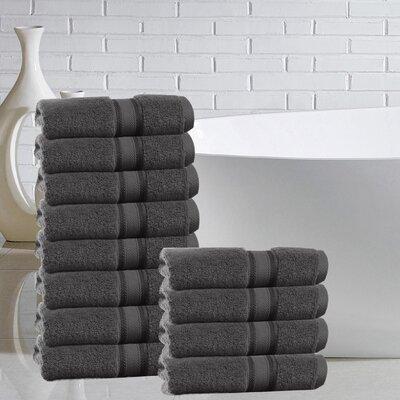 Briele Quick Dry Zero Twist Cotton Washcloth Color: Gray