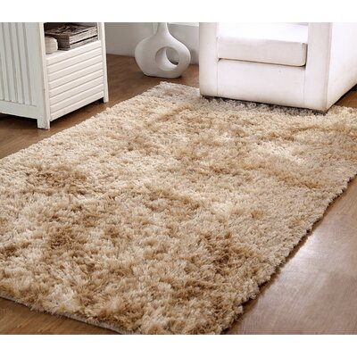 Horst Shag Hand-Woven Beige Indoor/Outdoor Area Rug