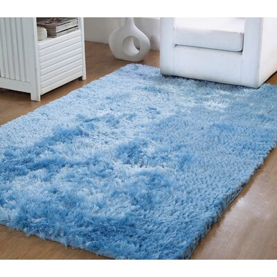 Horst Shag Hand-Woven Blue Indoor/Outdoor Area Rug