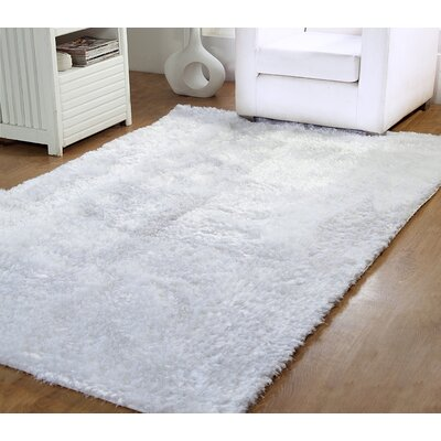 Horst Shag Hand-Woven White Indoor/Outdoor Area Rug