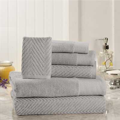 Sylvan Place 6 Piece Towel Set Color: Platinum