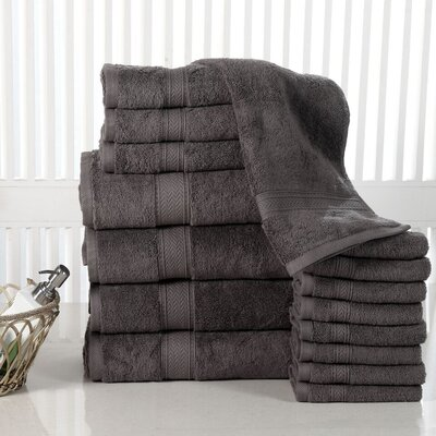 Elegance Spa 16 Piece Towel Set Color: Grey