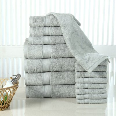 Elegance Spa 16 Piece Towel Set Color: Jade