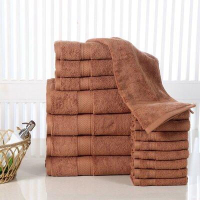 Elegance Spa 16 Piece Towel Set Color: Mocha