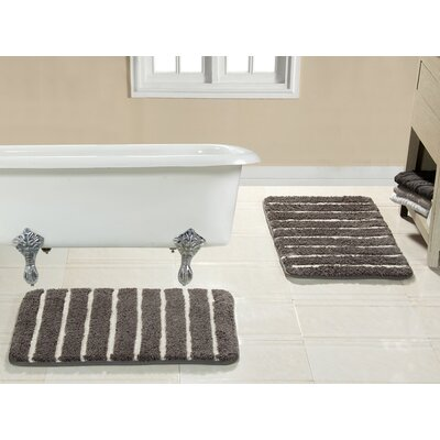 Brazier Memory Foam Bath Rug Color: Charcoal