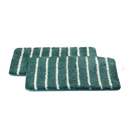 Chi Memory Foam Bath Rug Color: Aqua