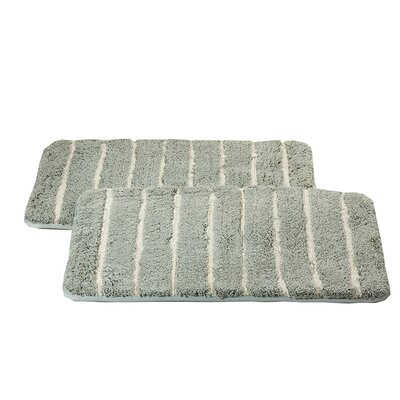 Chi Memory Foam Bath Rug Color: Gray